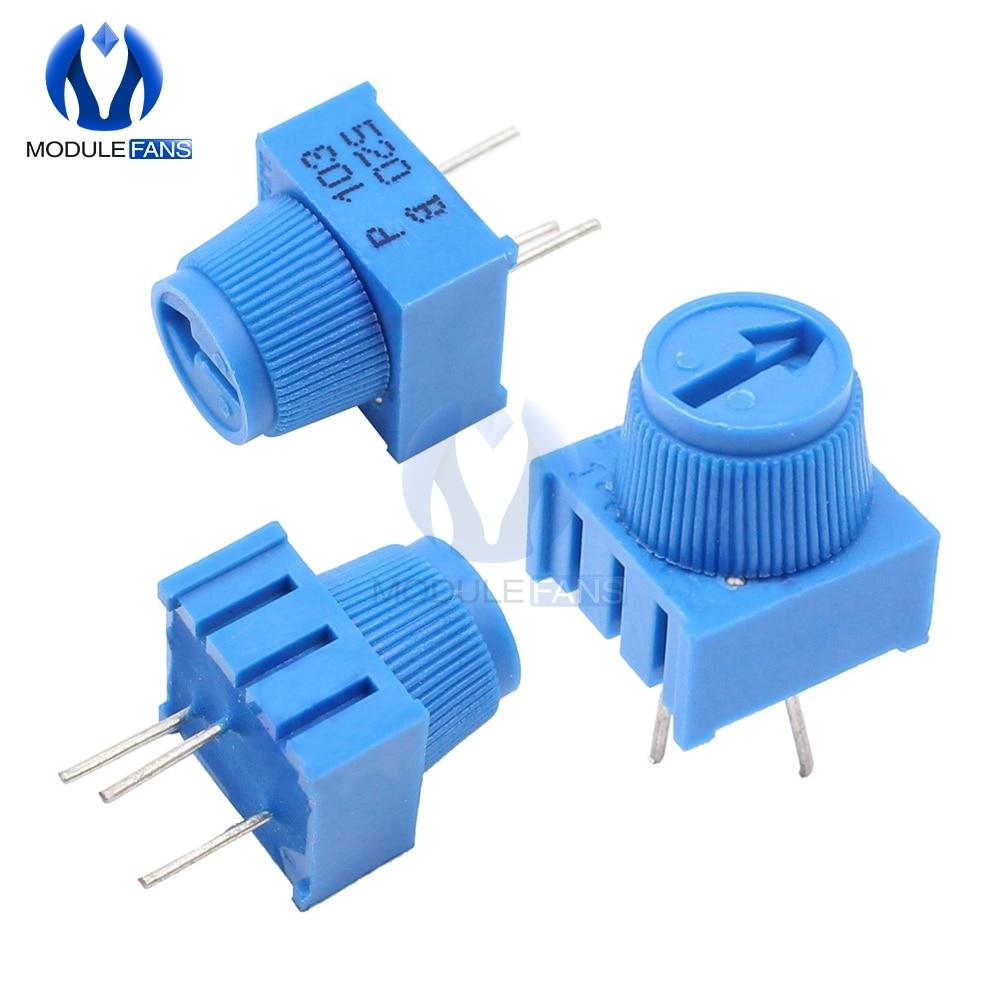 Резистор потенциометра 10 шт., с ручкой, для Arduino Trimpot, 10 кОм