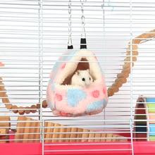 Pet Hamster Sleeping Bag Warm Hamster Bed House Nest Winter Warm Squirrel Hedgehog Chinchillas Warm Cotton Sleeping Bag
