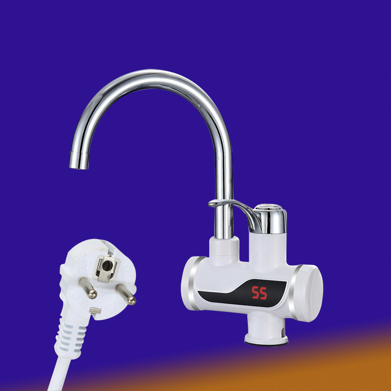 High-quality Tankless Instant Water Tap Instant Water Heater Kitchen Faucet Hot Water Crane With European Plug Digital LED