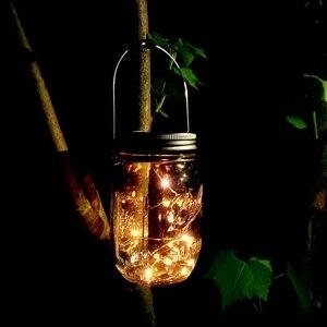 Image 4 - Gorący słoik solarny, 6 szt. 20 Led sznurek świąteczne Star Firefly nakrętki na słoiki, 6 wieszaków w zestawie (słoiki nie wchodzą w skład zestawu), P