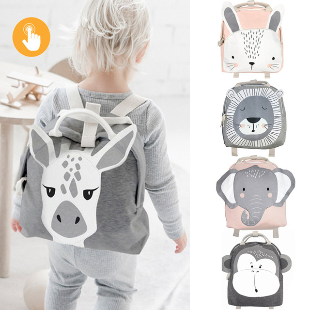 Children Backpack Toddler Kids School Bag Backpack For Baby Kids Cute School bag boy girl light Bag Rabbit Butterfly lion Bag