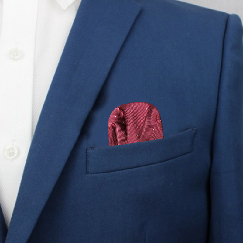 Fashion Men's Pre-folded Pocket Square Dots Suits Pocket Square Business Chest Towel Gentlemen Hankies Classic Suit Napkin