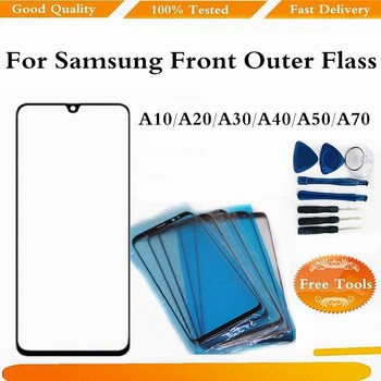 Phone Touch Screen For Samsung Galaxy A10 A20 A30 A40 A50 A60 A70 A80 A90 Front Outer Glass Panel Replacement With Free Tools image