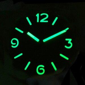 Image 5 - Zegarek San Martin stal nierdzewna Vintage automatyczne zegarki męskie wodoodporny pasek skórzany 200m Luminous wodoodporny bańka mineralna
