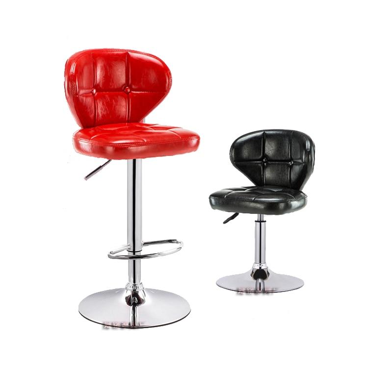 Simple Bar Chair Lift Bar Chair Cashier Counter High Stool Rotary Back Table And Chair European Bar Chair