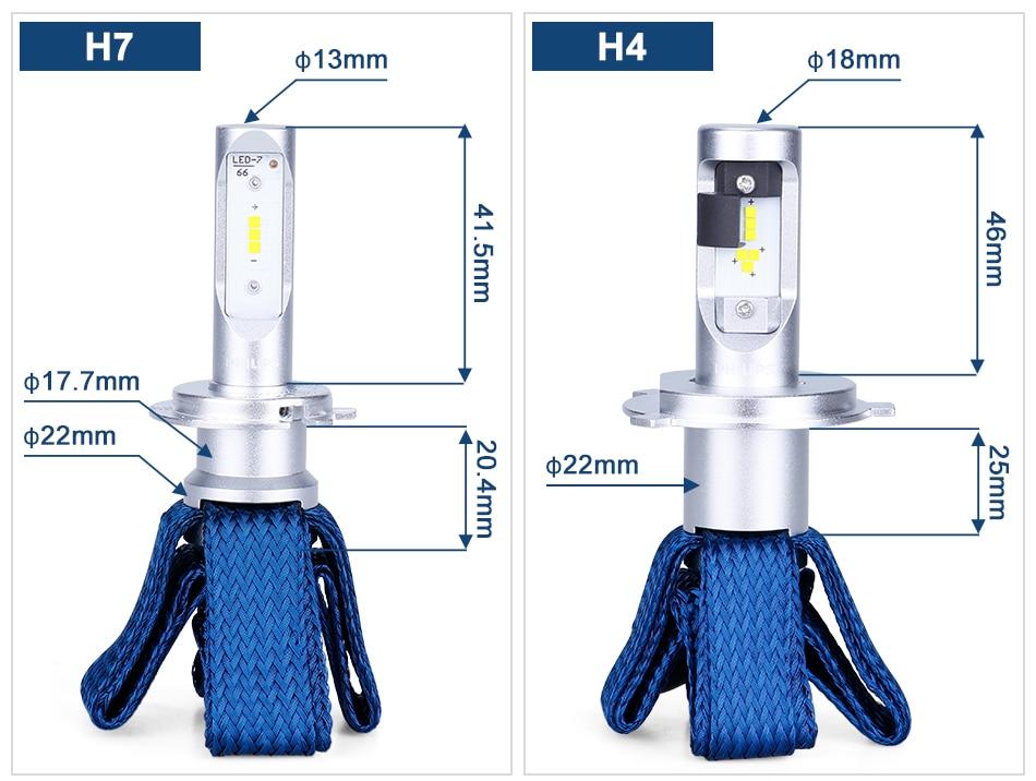 Philips H7 светодиодный H4 H8 H11 H16 9005 9006 9012 HIR2 HB3 HB4 Ultinon Эфирное светодиодный лампы для автомобилей 6000 К авто фары Противотуманные огни комплект из 2 предметов