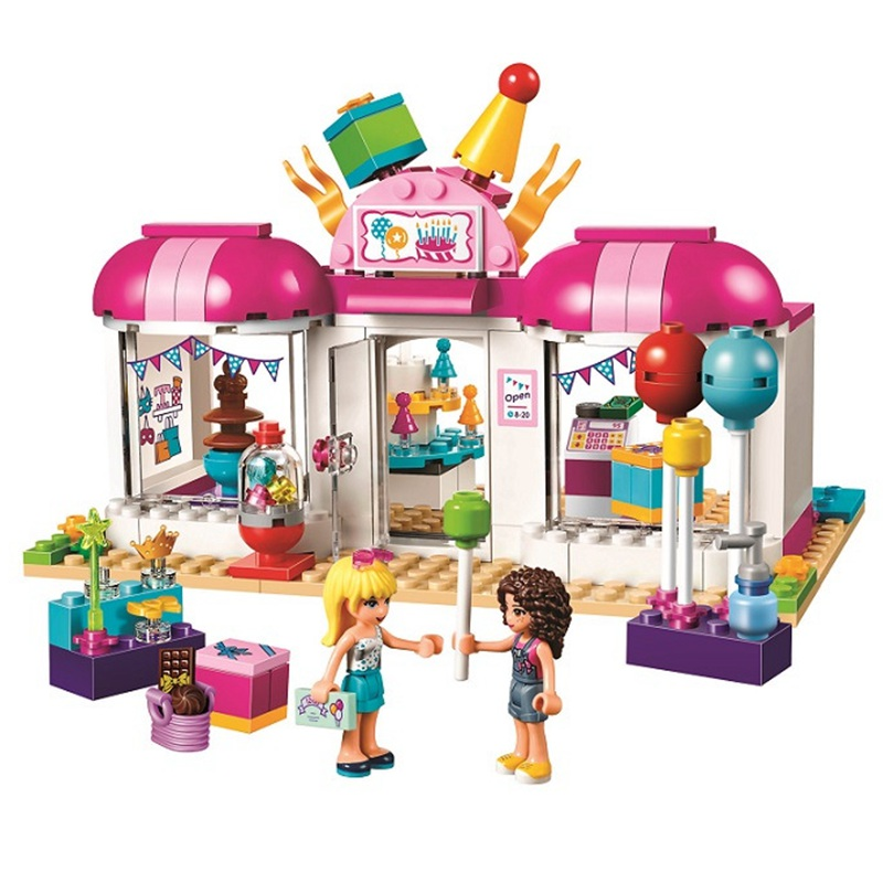 181Pcs 10557 Friends Heartlake Party Gift Shop Bricks Building Blocks 41132 Toys for Children Girls Series