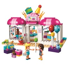 181Pcs 10557 Friends Heartlake Party Gift Shop Bricks Building Blocks 41132 Toys for Children Girls Series