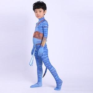Image 5 - 2019 Avatar 2 Cosplay Costume Adult Kids Zentai Bodysuit Hero Jumpsuits Cosplay Halloween Kids Boy girl Party Costume