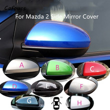 Cafoucs For Mazda 2 demio Rearview Mirror Cover Cap side Mirror Shell housing