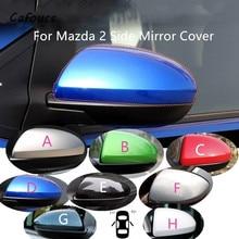 Cafoucs tapa de la cubierta del espejo retrovisor para Mazda 2, carcasa de espejo lateral
