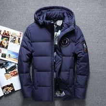 New Fashion Winter Big Hooded Duck Down Jackets Men Warm Hig