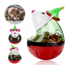 New Pet Cat Fun Tumbler Feeder Toy Mouse Leaking Food Balls Pet Educational Toys Pet Leakage Device Funny Cat Interactive Toy red legged mouse pet cat toy multicolored