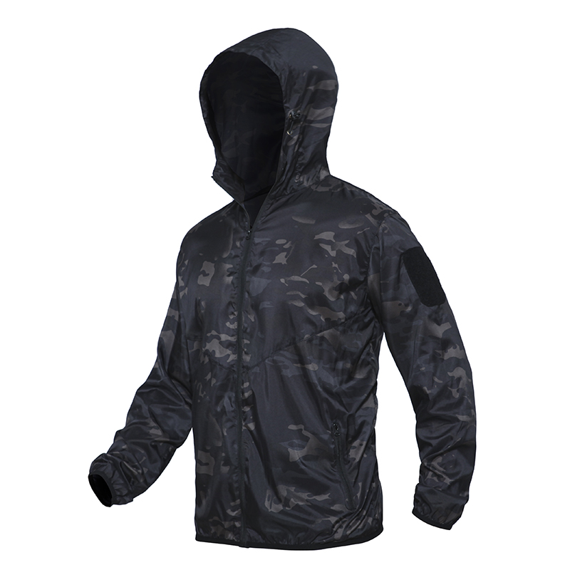 Men's Summer Waterproof Tactical Jacket Breathable Thin Raincoat Military Thin Windbreaker Army Skin Jacket Plus Size 3XL