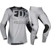 Delicate Fox Motorcycle MX 360 Kila Jersey Pants Motorbike Off-road Scooter Motocross Race Gear Set Grey Suit