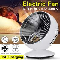 AUGIENB Portable Electric Fans Mini Desk Fans / USB Rechargeable / 3 Speed / 270° Automatic Rotation / Six leaf / Disassemble