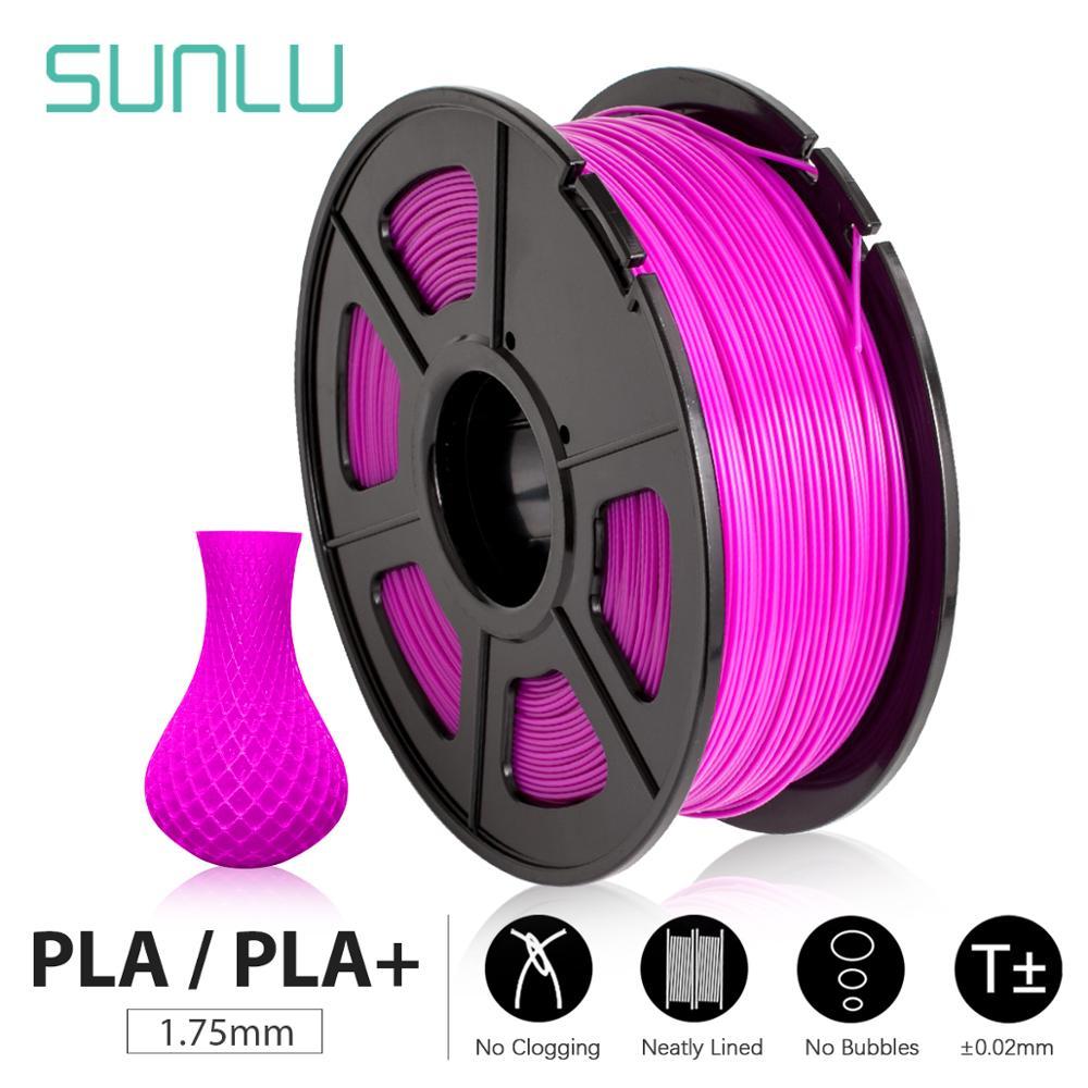 Filament d'imprimante 3d SUNLU PLA/PLA PLUS 1kg 1.75mm 1KG/2.2lb bobine bricolage meilleure impression de cadeau par matériau inoffensif