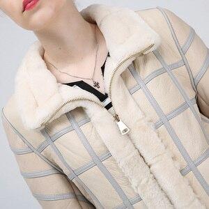 Image 4 - Hình Thật 2019 Cừu Cắt Lông Thu Đông Nữ Cao Cấp Ấm Áo Khoác Da Nữ Áo Vest Thời Trang Mới Da Cừu Áo Vest Áo Khoác