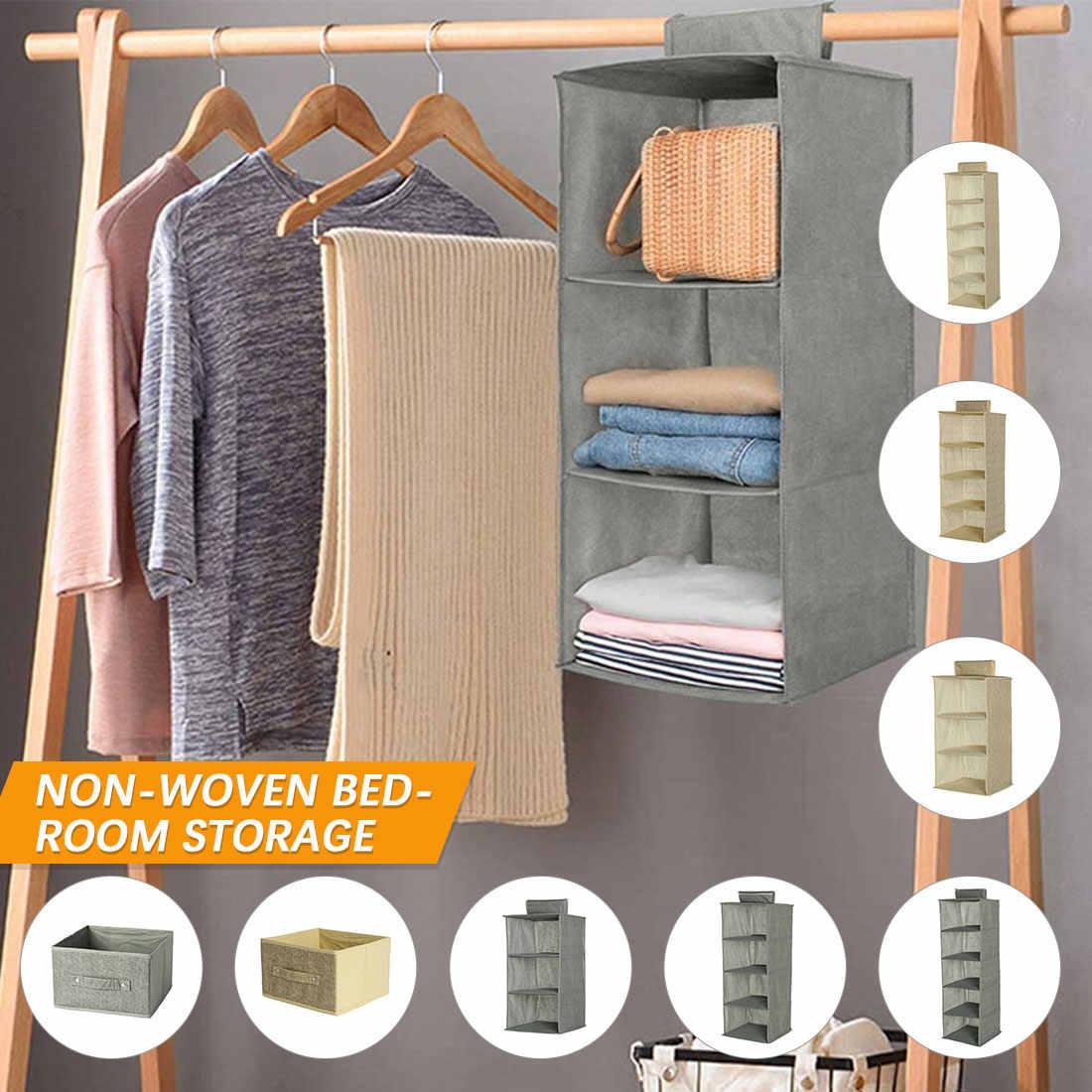 3//4//5 Layers Wardrobe Hanging Organizer Folding Storage Clothes Closet Holder