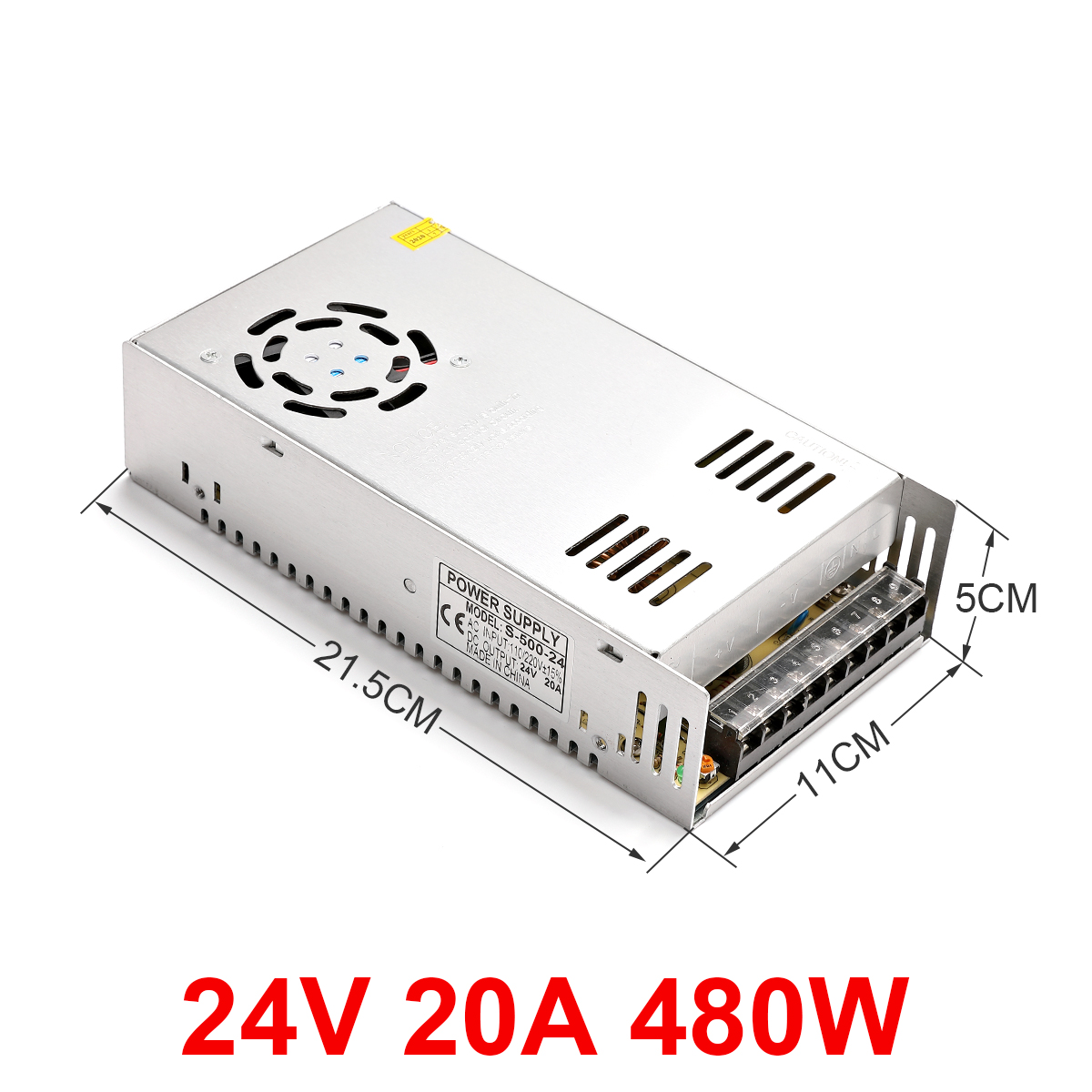 Single output power switch converter module for safe driving of 24 V 10A 20 a 60 a 80 a LED CCTV