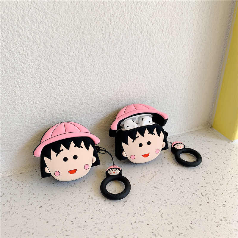 Japanese Korean Cartoon Small Balls AirPods Protective Case for Apple Bluetooth Headset Storgage Bag Case Women 2