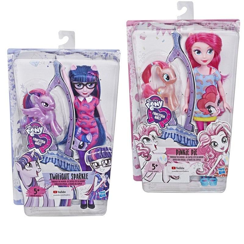 Original 2019 mon petit poney nouvelles poupées Pinkie Pie Action figurine ensemble equitation filles pour petit bébé cadeau d'anniversaire fille Bonecas - 6