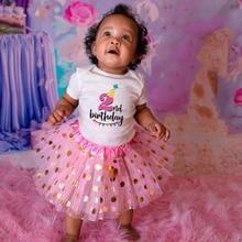 Детское платье-пачка на первый и второй день рождения, на возраст 0-24 месяцев
