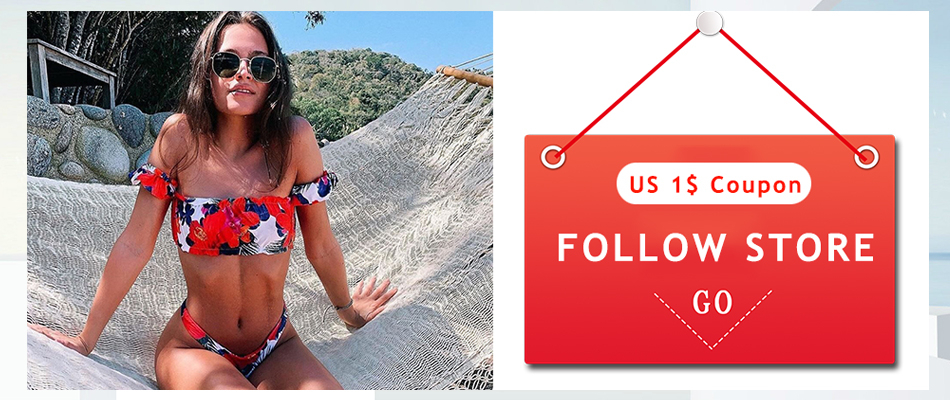 Bikini Brazilian Mujer 2020 Summer Ruffle Swimwear Women Red White Black Push Up Pads Sexy Swimsuit Bandage Two Piece Swim Wear
