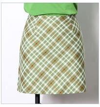 Harajuku Корейская юбка Уличная тартан зеленая женская короткая