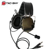Orejeras de silicona TAC-SKY COMTAC III edición de auditoría defensa auditiva reducción de ruido auriculares tácticos-FG
