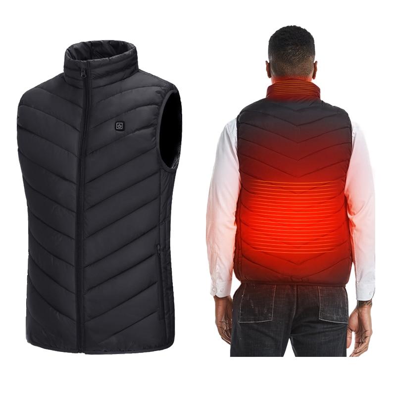 PARATAGO Men Women Smart Heating Vest Winter USB Electrical …