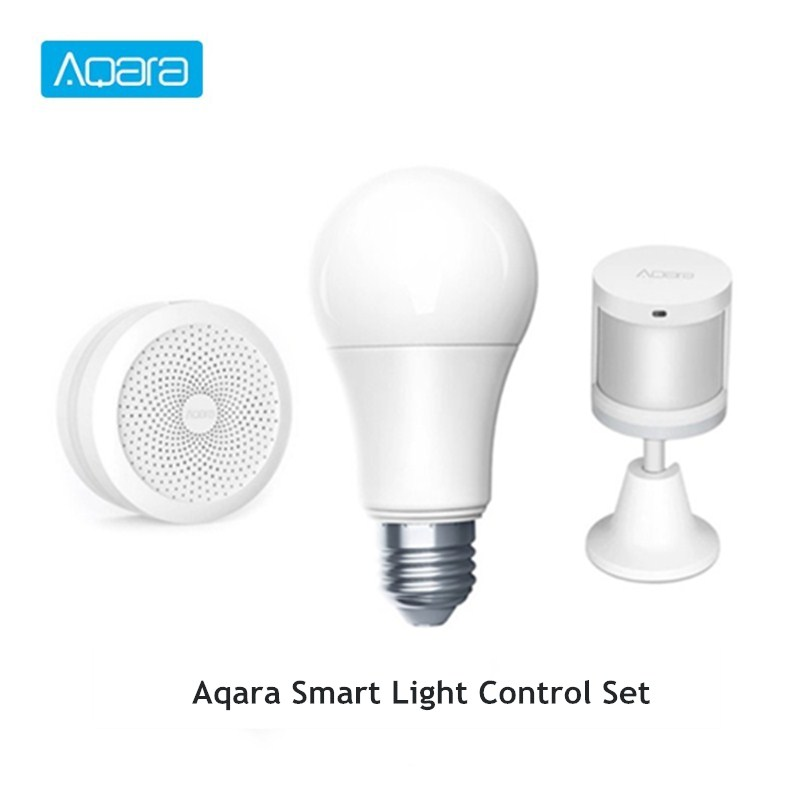 Aqara Smart Light Set Hub + Bulb + Human Body Sensor Smart Home Lighting Kit Smart Light Set Support APP Control