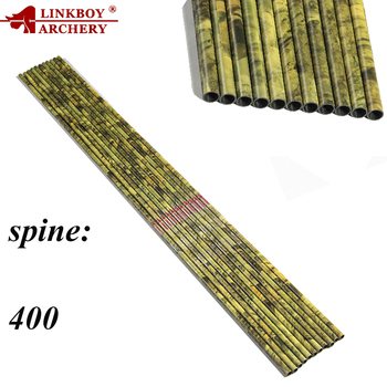 Linkboy Archery Pure Carbon Arrows Shaft Spine300-500 30inch for Compound Traditional Bows and Arrows Hunting Shooting Outdoor