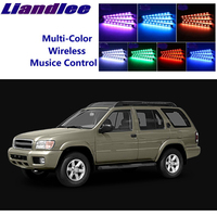 LiandLee Car Glow Interior Floor Decorative Seats Accent Ambient Neon light For NissanPathfinder Pathfinder R50 MK2 1995~2005|Decorative Lamp| |  -
