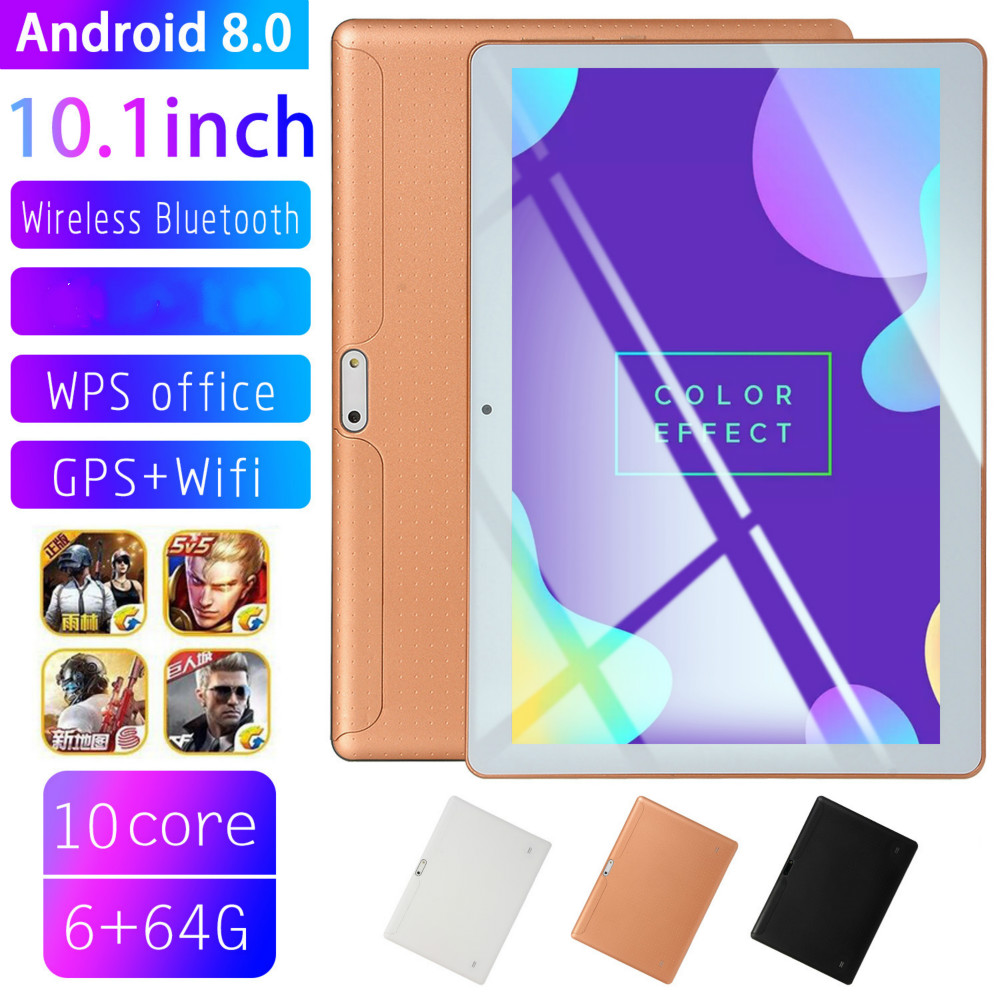 2020 Andriod 8.0 Ten Core 6G 10 Inches Screen New Original Dual SIM 4G Phone Tablet PC Mic WIFI RAM+16/64/128G Tablet