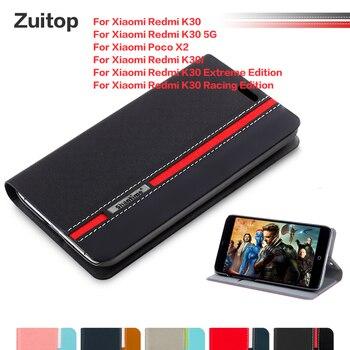 Перейти на Алиэкспресс и купить Кожаный чехол для телефона Xiaomi Redmi K30 K30 5G K30i K30 Extreme Edition K30 Racing Edition чехол для Xiaomi Poco X2