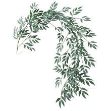 1,8 м искусственные эвкалиптовые листья ивы зеленые растения Свадебные Diy Декор Цветы лист Искусственный цветок розы домашний декор S