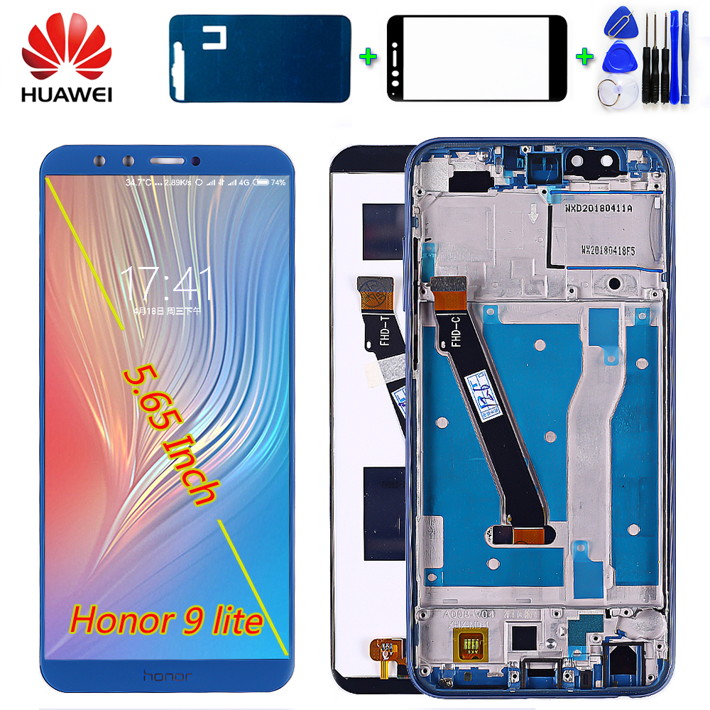 Huawei LCD Display For Huawei Honor 9 Lite 5.65 Inch Touch Screen Digitizer Assembly Honor 9 Youth Frame Free Tools