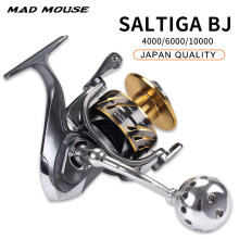 Катушка для спиннинга MADMOUSE SALTIGA BJ 4000 /6000/10000, 11 + 1 шарикоподшипник, 35 кг