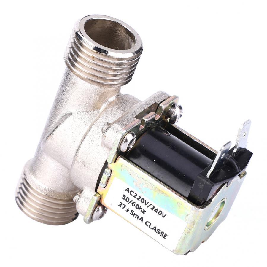 AC220V G1//2 BrassNormal Closed Magnetic Valve Electromagnetic Valve Water Inlet Valve for Water Supply Applications Solenoid Valve