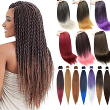 Hair-Extensions Braiding-Hair Blonde Brown Pink Pre-Stretched Synthetic for Women 26inch/95g