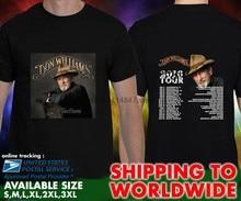 Don williams world tour datas 2016 unisex preto t camisa tamanho S-3XL