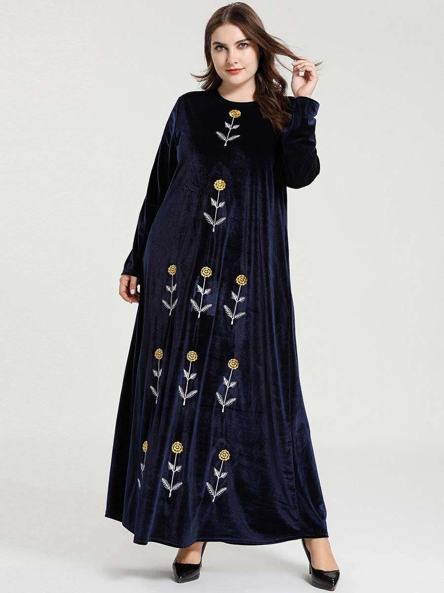 Abaya Dubai Kaftans Hijab Muslim Dress Abayas For Women Caftan Marocain Turkish Dresses Islam Clothing Grote Maten Dames Kleding