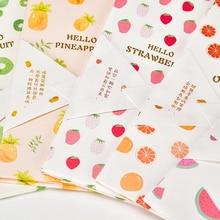 10pcs/lot Kawaii Fruit Pie Colorful Paper Envelopes Office School Stationary Koperty Papierowe Gift Supplies Sobres Invitacion pie school