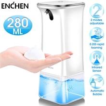ENCHEN Automatic Touchless Foam Soap Dispenser with Infrared Motion Sensor 280ML Foam Soap Dispenser for Bathroom Kitchen