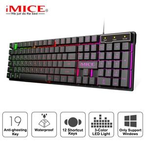 Image 1 - Tastiera da gioco iMice tastiera meccanica imitazione retroilluminazione tastiera da gioco russa inglese tastiera da gioco USB cablata Computer