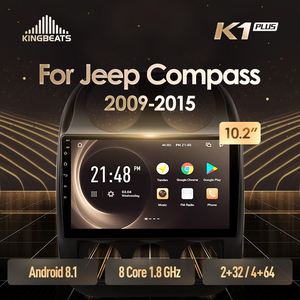 KingBeats Android 8.1 head unit 4G in Dash Car Radio Multimedia Video Player Navigation GPS For Jeep Compass 1 MK 2009 2014 2015(China)