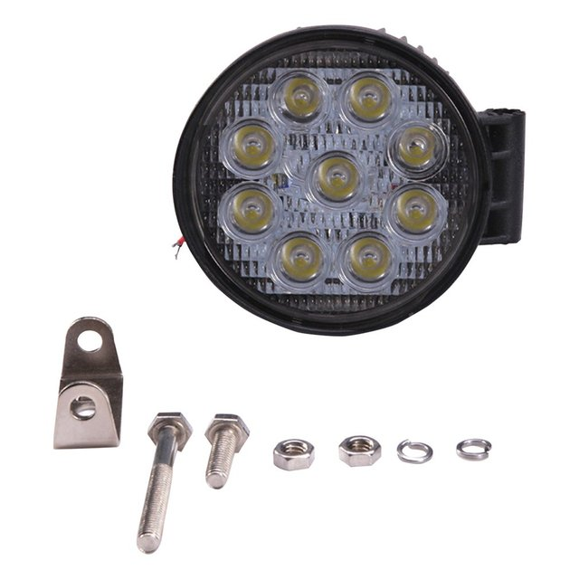 27W Thick Round Type Nine Lamp Beads LED Engineering Car Light Practical Roof Rack Truck Spotlight 10-60V