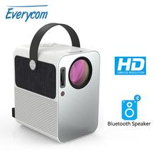 Everycom R10 LED wideo Mini projektor HD 720P przenośny Beamer wsparcie Full HD 1080P kino domowe użyj jako głośnik Bluetooth tanie tanio Instrukcja Korekta CN (pochodzenie) NONE 4 3 16 9 75W Focus 150-200 System multimedialny 1280x720 dpi 4000 Lumenów