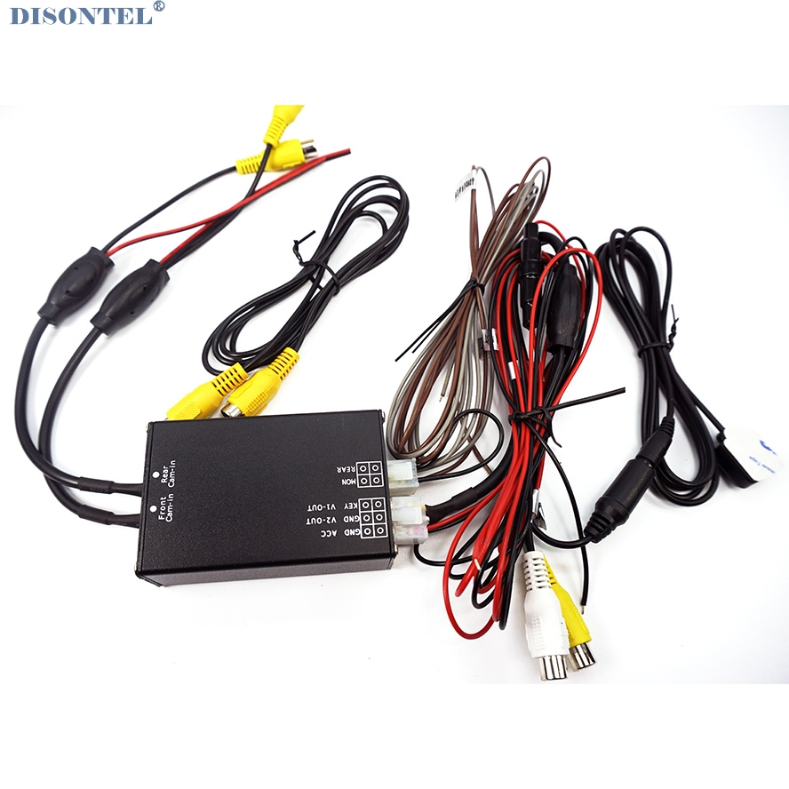 Two Cameras Image Switch Control Box For Front View / Rear View Parking System Video Car Dual Cameras Switch Control Two Channel